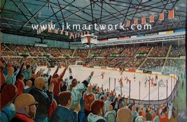 sheffield arena (steelers) print